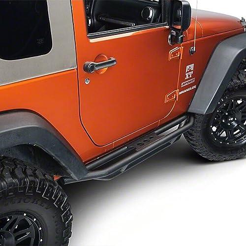 high quality Mallofusa Compatible for 2007-2016 Jeep Wrangler outlet sale JK 2 Door Side Steps popular Nerf Bars Running Boards Black Textured outlet online sale