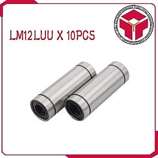AiCheaX - 10pcs/lot Linear Ball Bearings LM12LUU 12MM Part Bush Bushing 3D Printers Parts Aluminum Accessories