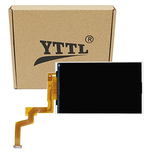 replacement top screen for new 2ds xl, yttl replacement parts accessories  upper screen lcd display