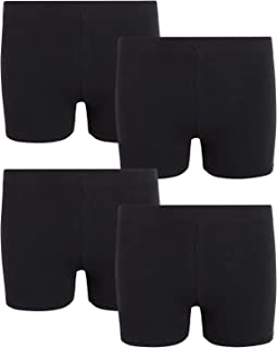 Rene Rofe Girls' Cotton Under Dress Playshorts with Soft Stretch Fit (4 Pack)