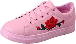riou Zapatillas Deportivas de Mujer Zapatos Bordados Flor