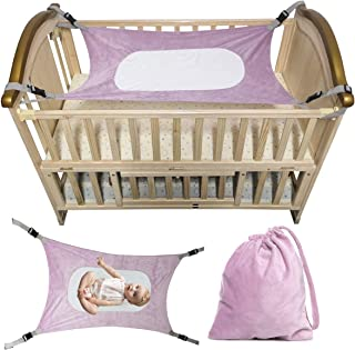 Baby Hammock for Crib Fit Mini Crib & 'n Play Mimics Womb Bassinet Hammock Bed Enhanced Material Upgraded Safety Measures Newborn Infant Nursery Bed,Gift Draw String Bag (Lavender)