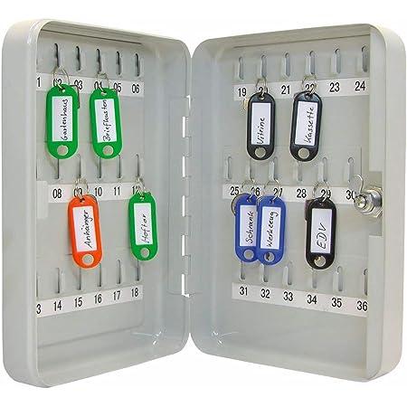 Wedo 10253637X Armoire à clés pour 36 clés 18 x 6 x 25 cm Gris lumière