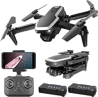 Pieghevole Quadcopter WiFi Drone Toy Altitude Hold modalit/à Senza Testa con videocamera HD 480p Lecxin Drone Quadcopter