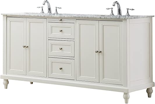 Direct Vanity Sink 6070d9 Wtc Classic 70 Pearl Double Vanity With White Carrara Marble Top Amazon Com