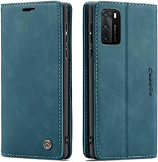 Flip Leather Case For Huawei P40 PRO From CaseMe,Cover Leather case (Green)