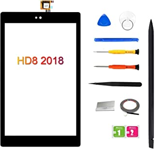FeiyueTech White iPad 7 2019 iPad 10.2 A2197 A2198 A2200 Touch Screen Digitizer Replacement Front Glass Assembly Includes Home Button+Camera Holder+PreInstalled Adhesive Tools kit