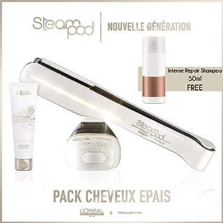 Steampod 2.0 Straightener Pack + Cream + Intense Repair Shampoo 50ml free