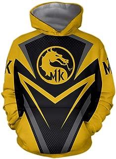 Hoodies Mortal Kombat Cosplay Unisex 3D Print Sweater Kangaroo Pocket Anime Hoody Sweatshirt