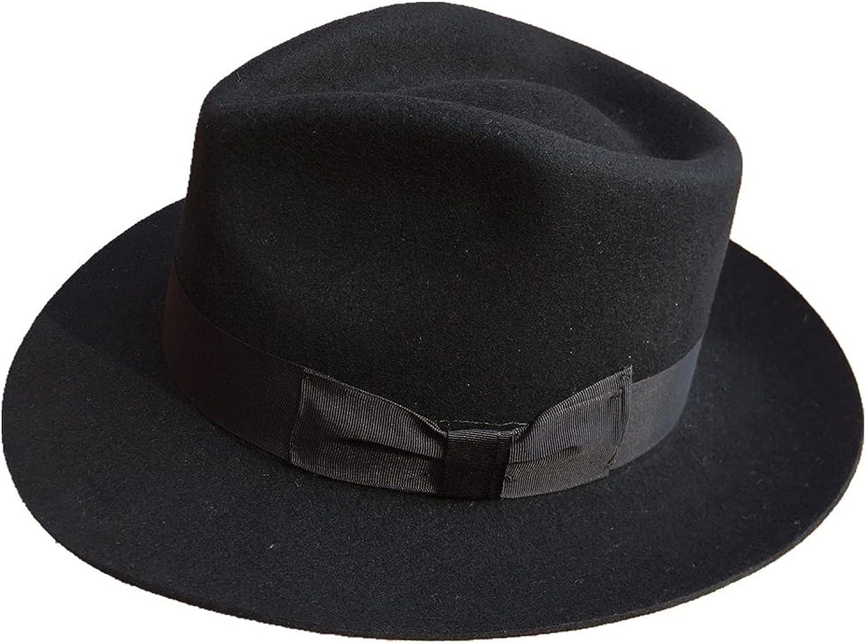 Michael Fedora Hat Classic Jackson Billie Jean Black Hat Men's Wool Fedora Hat Cap with Name