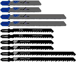 KINYOOO コジグソーブレード、木工用ジグソーブレード、鉄工用 ジグソーブレード(5本組)・木工円切り・合板・新建材・金属板