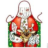Babbo Natale con Renna Grembiule da Cucina