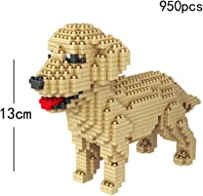 JJWW Micro Diamond Building Block with Adorable Animals, 3D Dog Model Toy - Plush Schnauzer Dachshund Husky Corgi Collie Dog for Children Toys