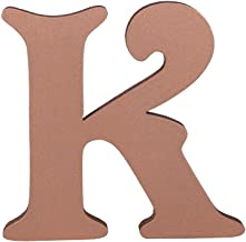 Extra Large 6 inch 15 cm Victorian Wooden Alphabet Letters Hand Finished Free-Standing Or Wall Mounted Décor Baby Names Signs Unique Personalised Gift. (Copper,Letter-K)