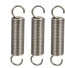 Gr/ö/ße : 1.2 x 8 x 30mm NO LOGO K-Fang 5Pcs Drahtdurchmesser 1,2 mm Spannfeder mit Haken Stahl Kleine Zugfeder Au/ßen-Durchmesser 8mm L/änge 30-60mm