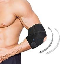 Tennis Elbow Brace, Ademende Elleboogsteunband Met Dual-Spring Stabilisator en Sterke Haak & Lus Bandjes voor Artritis, Te...