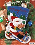 Bucilla 33509calcetín de fieltro de Navidad calcetín de Papá Noel en trineo 15'diagonal