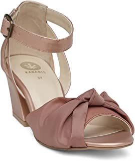KANABIS Women's Miss Knotty-Pink Fashion Sandals