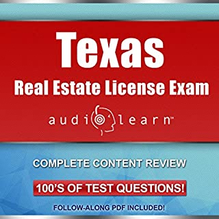 Texas Real Estate License Exam AudioLearn audiobook cover art