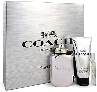 Coach Platinum 3 Pieces Gift Set for Men: Eau de Parfum 100ml + Shower Gel 100ml + Mini Eau de Parfum 7.5ml