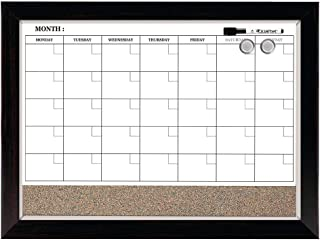 Quartet Combination Magnetic Whiteboard Calendar & Corkboard, 17