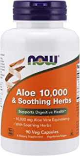 NOW Foods Aloe 10.000 & Soothing Herbs - 90 Cápsulas