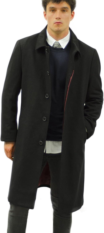 Henley & Knight Men's Luxury 3/4 Wool Blend Overcoat