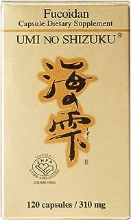 Umi No Shizuku Fucoidan Capsule Pure Seaweed Extract Enhanced with Agaricus Mushroom Optimized Immune Support Health Supplement-120 Capsules