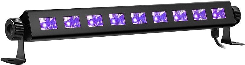 ENKEEO 9 LEDs Schwarzlicht 27W 360° Drehbare UV LED-Beleuchtung Effektlicht Black lights Beleuchtungsbereich 20m² für Party, Halloween, Disco, Club, Karneval