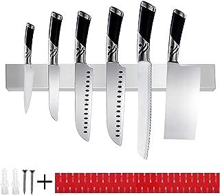 TOPSEAS Barre Magnétique pour Couteaux,40 cm Porte-Couteaux Magnétique en Acier Inoxydable,Mural Support Aiguiseur de Cout...