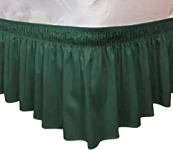 green bed skirt twin