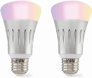 MUVIT® iO Pack 2 Intelligente WiFi-lampen met kleurrijk LED-licht, 750 lm, 5 W en 25000 h, compatibel met spraakassistenten