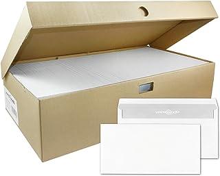 versando 1000 enveloppen DIN lang, 22 x 11 cm, wit, zonder venster zelfklevend, enveloppen, sk
