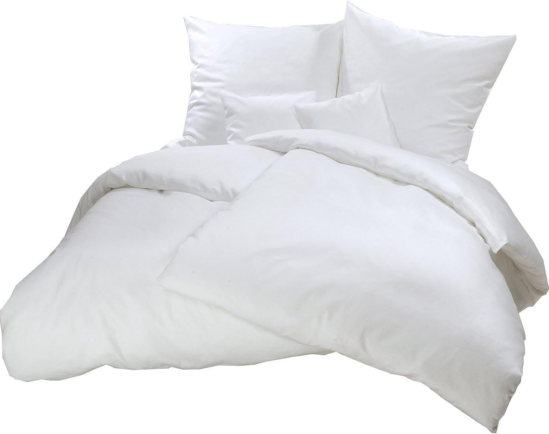 Carpe Sonno kuschelige Biber Bettwäsche 135 x 200 cm einfarbig einfarbig einfarbig weiße Winterbettwäsche mit Reißverschluss aus 100% Baumwolle Flanell - 2-tlg Bettwäsche Set mit Kopfkissen-Bezug B009ZTO1WU 15f6f3