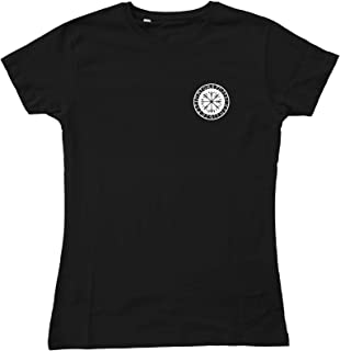 Ladies Helm of Awe Left Breast Nordic Viking Aegishjalmur Fitted T-Shirt