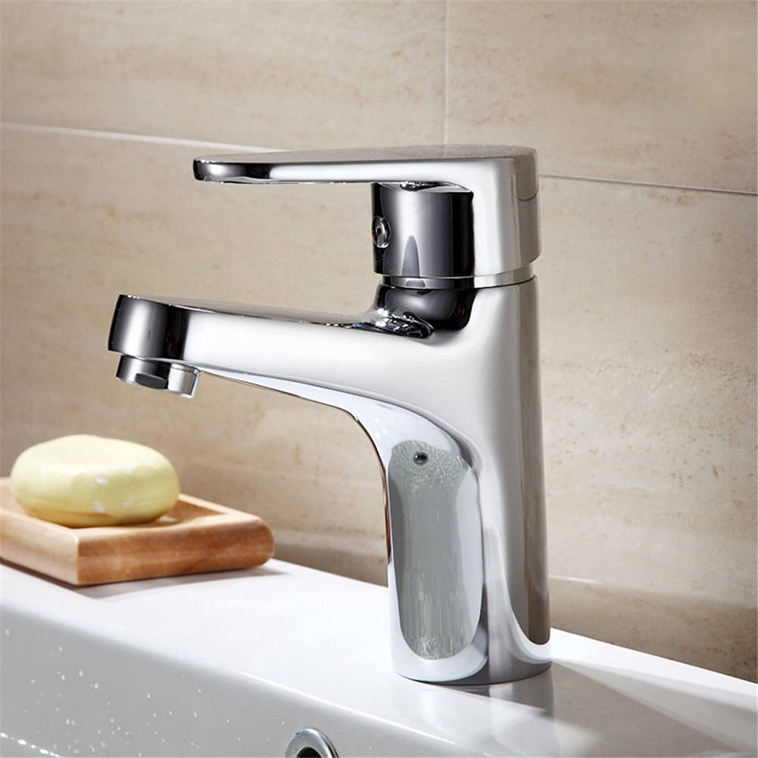 NewBorn Faucet Water Taps Hot And Cold Water Single Hole Full Copper Hot And Cold Single Hole Mixer Taps Wash-Basin Mixer