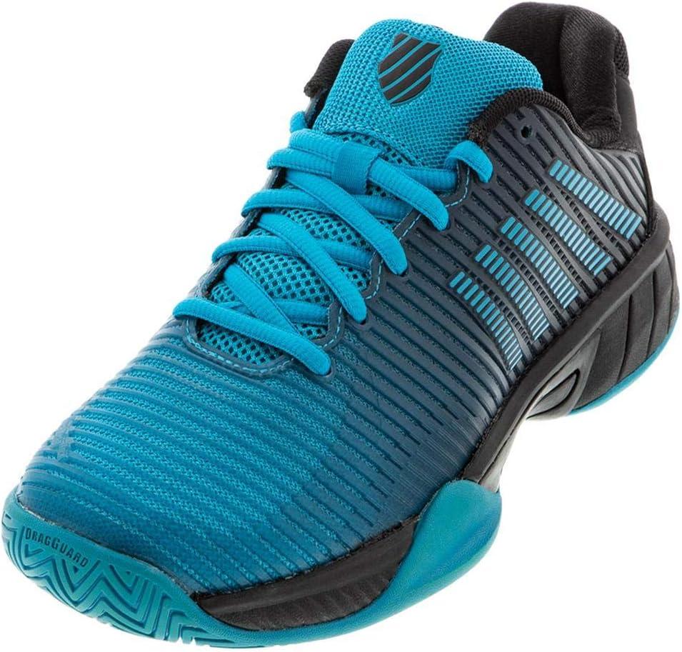 K-Swiss Junior Hypercourt Express 2 Tennis Shoe - Algiers Blue/Black - Size 2