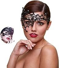 Masquerade Mask Women Shiny Rhinestone Venetian Party Prom Ball Metal Mask