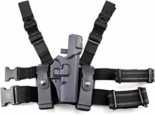 Fantasia Tactical Level 3 Right Hand Drop Leg Thigh Waist Belt Drop Pistol Holster with Magazine Torch Pouch for Glock 17 19 22 23 31 32