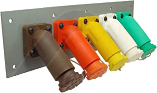 Power Assemblies 5 Position CAM Lock Panel, 400 Amp, 3 Phase 277/480V, Female, 45°, Threaded Post connections with NEMA 3R Caps and Lanyards, Series 16 CAM Connectors, Power Distribution Panel
