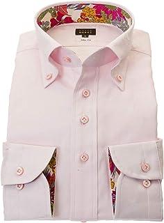 ワイシャツ メンズ STYLE WORKS スタイルワークス 綿 100% ホワイト ボタンダウン 長袖 ドレスシャツ カッターシャツ シャツ 柄シャツ 派手シャツ|RWD114-111