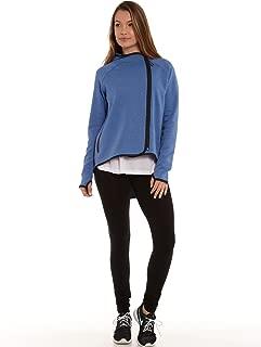 Nike Women's Tech Fleece Cape FZ Hoodie Jacket Royal Heather/Black Large