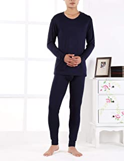 cb4962a6664 Autumn Winter Men s Long Thermal Underwear Modal Thin Men Underwear Sets  Warm Plus Size Xl-