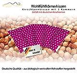 Cuscino con noccioli di ciliegia all'interno / cuscino da rilassamento per il trattamento termico – cuscino termico riscaldabile nel microonde // (rosa)