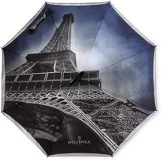 Garantie 5 Ans /«NOUSHKA/» Parapluie invers/é Automatique Haut-de-Gamme L/éger Elegant et Ultra Solide Double-Toile Anti-UV Emballage et Box Individuel NOUSHKA mod/èle /«Juste Nous Deux/»