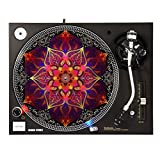 Red Flower - DJ Turntable Slipmat