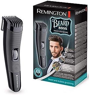 Remington Bear Boss MB4130 Barbero, Cuchillas Titanio, Recargable, Litio, 13 Ajustes, Negro y Gris