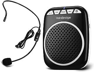 W WINBRIDGE Voice Amplifier Portable Microphone and Speaker Loudspeaker Personal Microphone Speech Amplifier Clip On for Teacher, Elderly,Coaches, Training, Presentation, Tour Guide