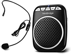 W WINBRIDGE Voice Amplifier Portable Microphone and Speaker Loudspeaker Personal Microphone Speech Amplifier Clip On for T...