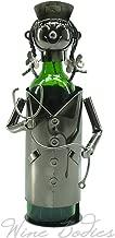 WINE BODIES ZB800 nice nurse Metal Wine Bottle Holder, Charcoal